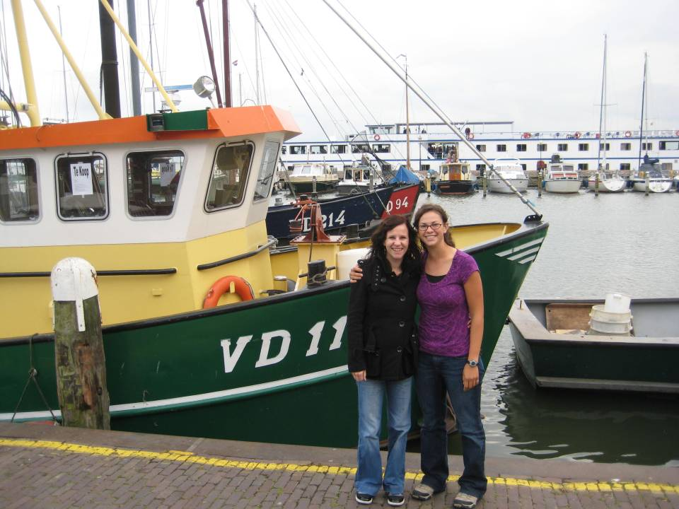 sytske and me. and a boat.